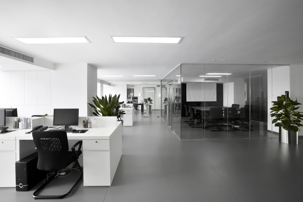 clean disinfected office space